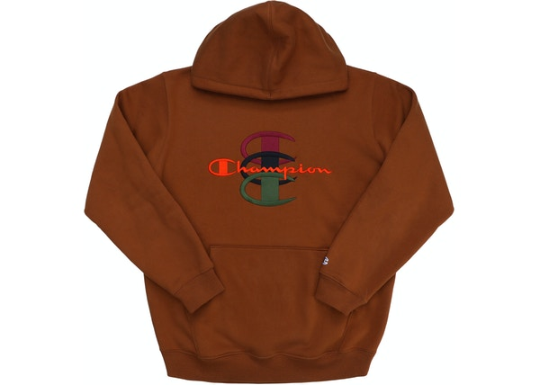 ee2149233ecc Supreme Champion Stacked C Hooded Sweatshirt Brown - FW17