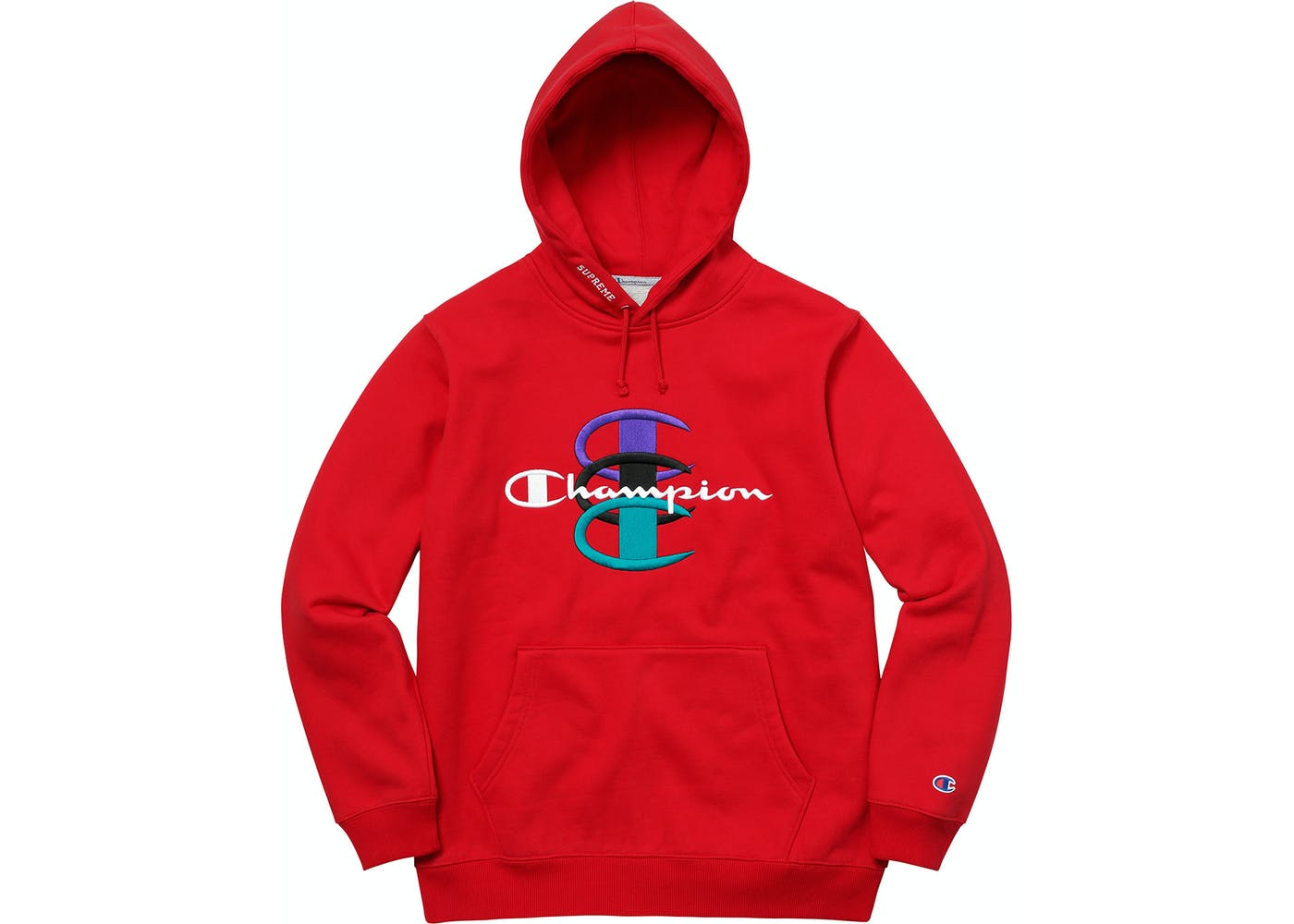 Champion Stacked C Hooded Sweatshirt Red