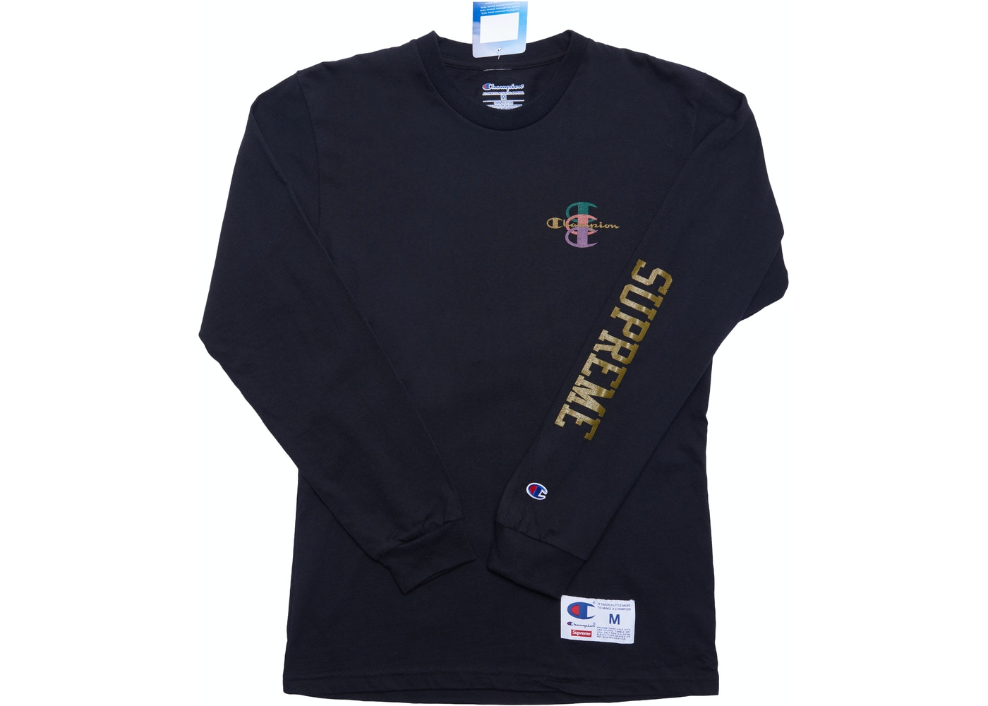 834619f5 Supreme Champion Stacked C L/S Tee Black - FW17