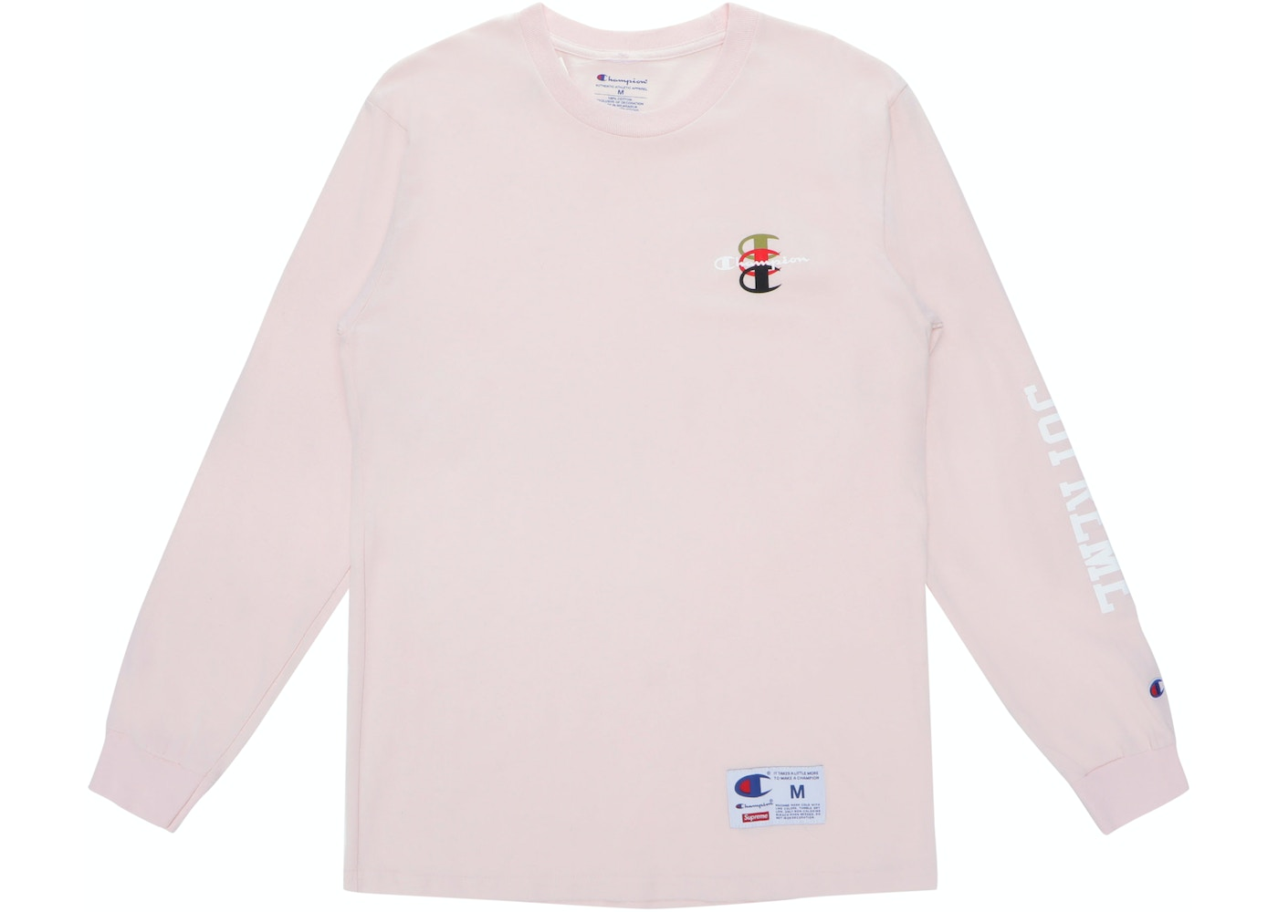 14ee72d9 Supreme Champion Stacked C L/S Tee Light Pink - FW17