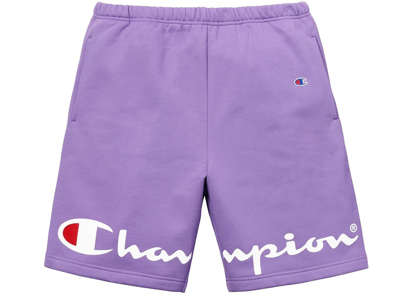 Supreme champion sweatshort light purple voltagebd Gallery