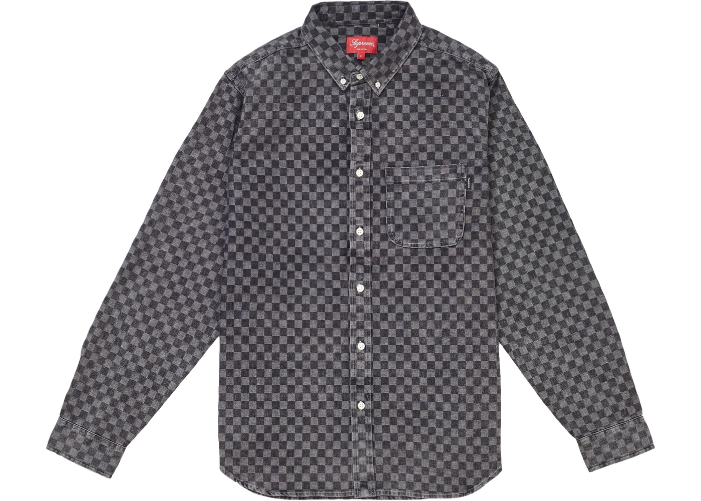 3b53265f8d58 Supreme Checkered Denim Shirt Black - FW18