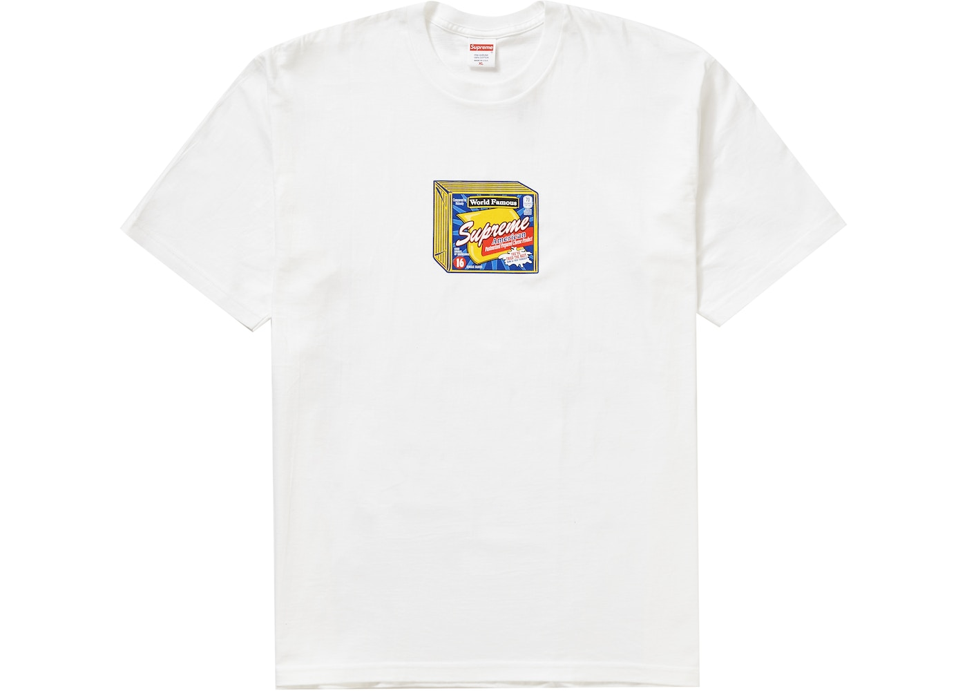 Supreme Cheese Tee White by Stock X