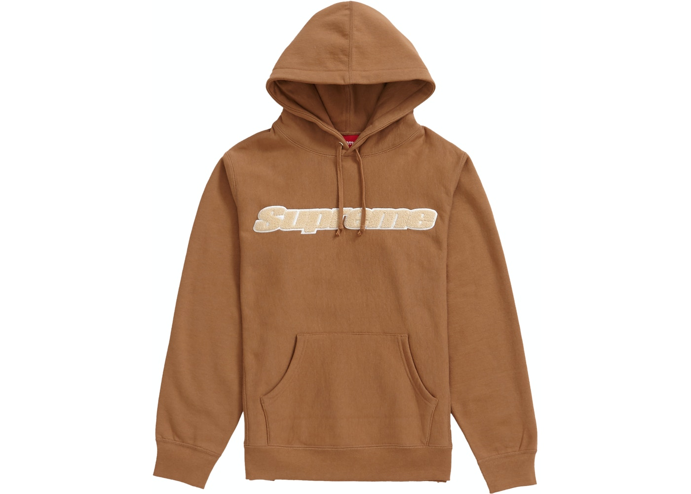 ada83e37 Supreme Chenille Hooded Sweatshirt Brown — HypeAnalyzer