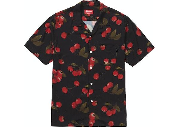 c30f3ed292c Supreme Cherry Rayon S SShirt Black