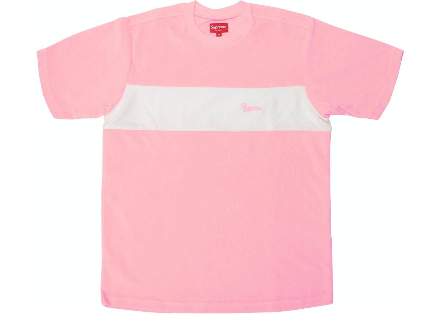6da90ba1 Supreme Chest Stripe Terry Top Light Pink - SS18