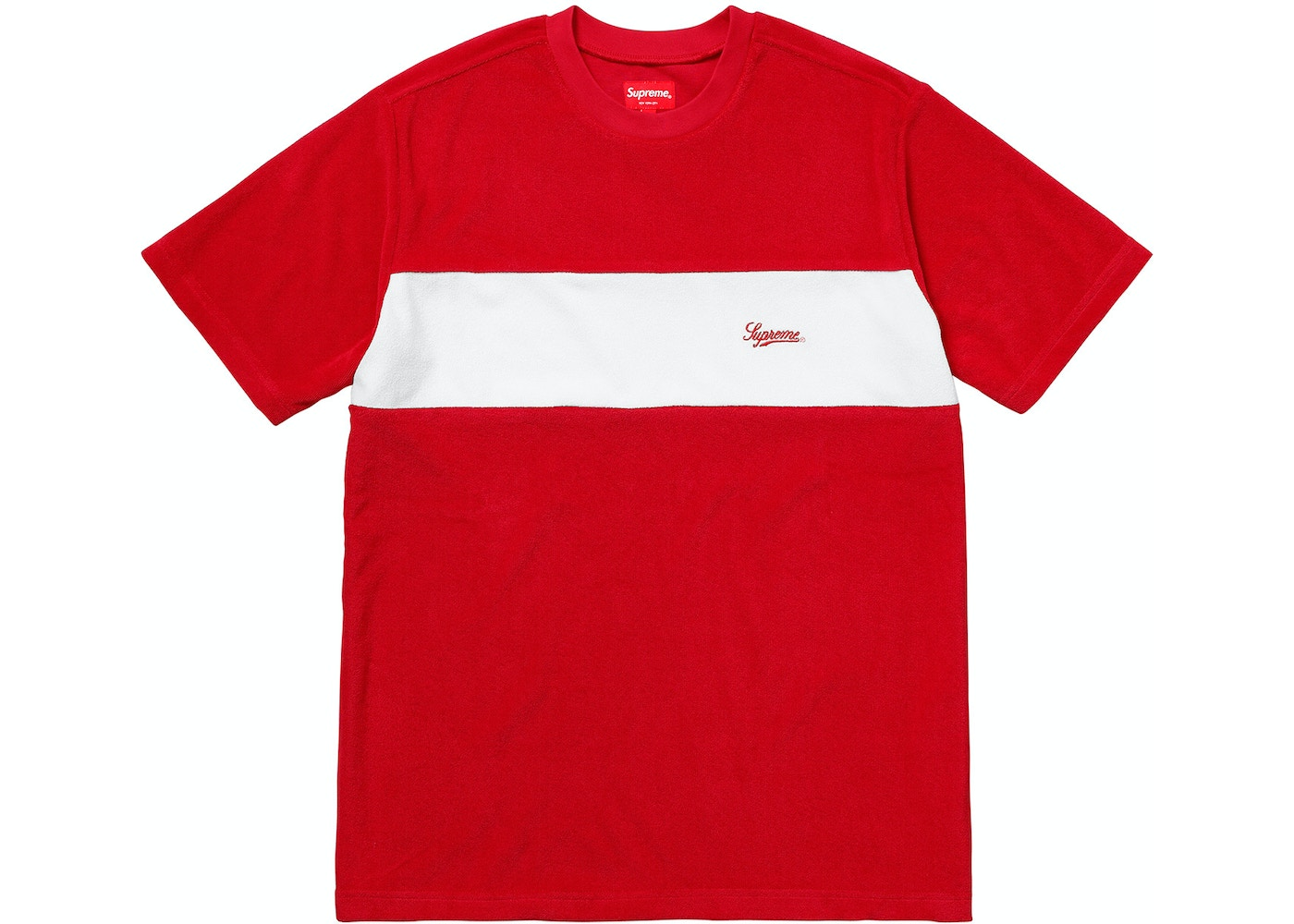 3c790292 Sell. or Ask. Size M. View All Bids. Supreme Chest Stripe Terry Top Red