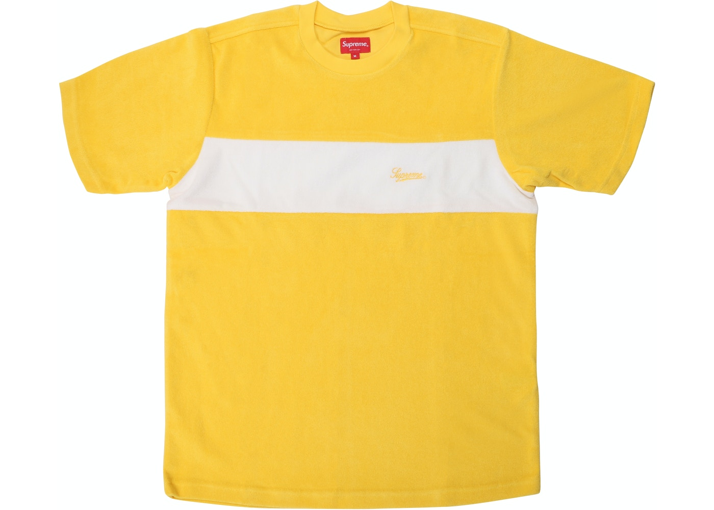 323a00cb Sell. or Ask. Size L. View All Bids. Supreme Chest Stripe Terry Top Yellow