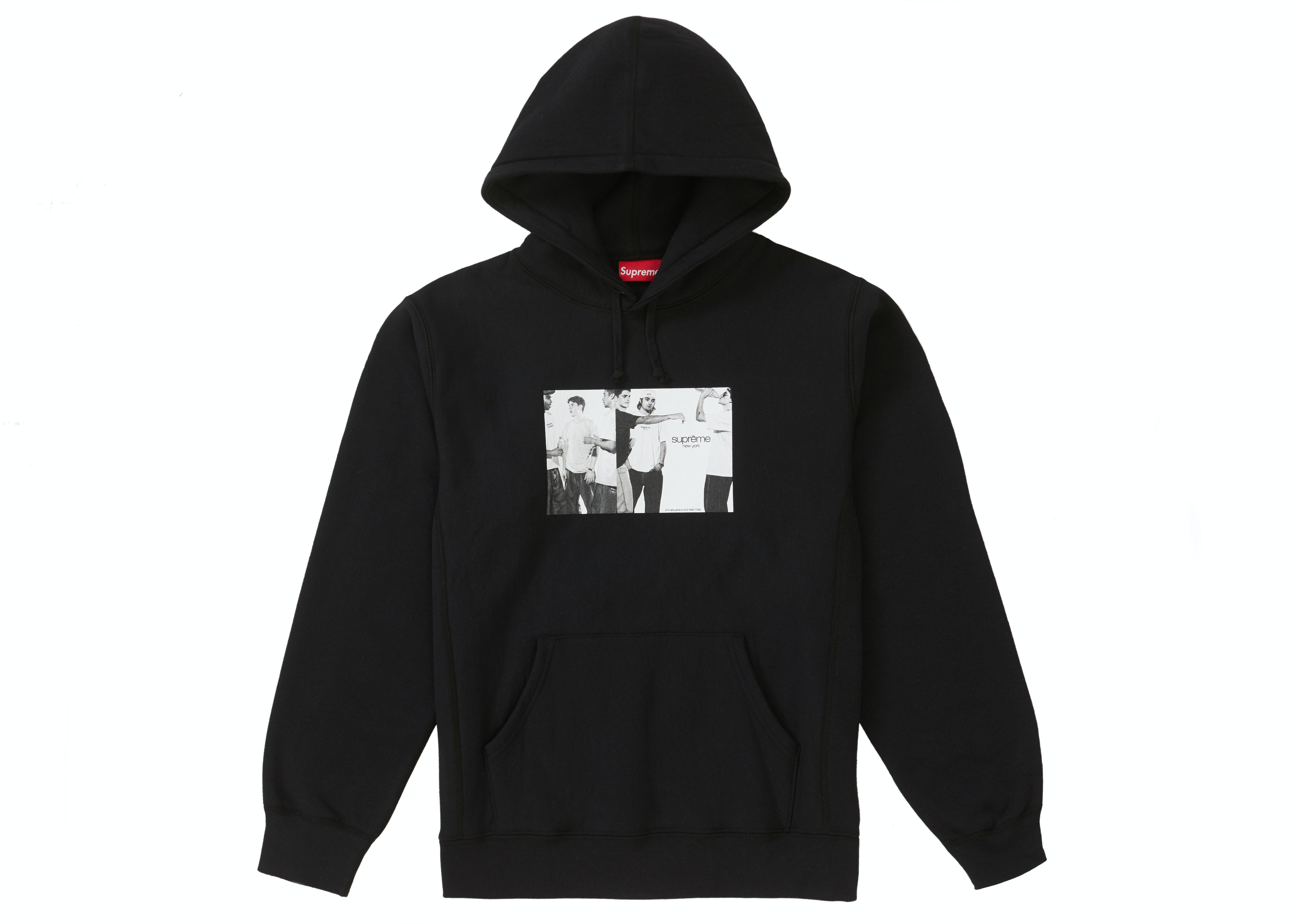 Supreme Classic Ad Hooded Sweatshirt Black