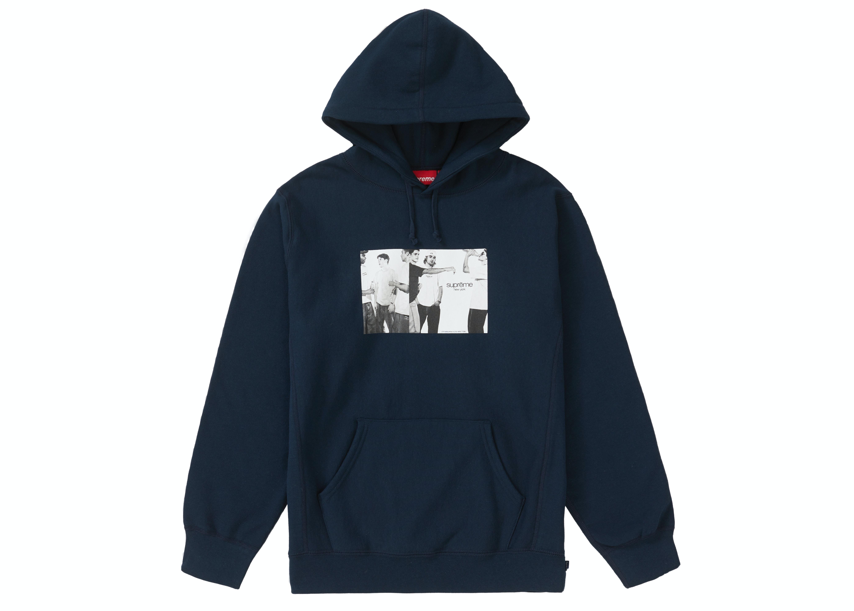 Supreme Classic Ad Hooded Sweatshirt Navy