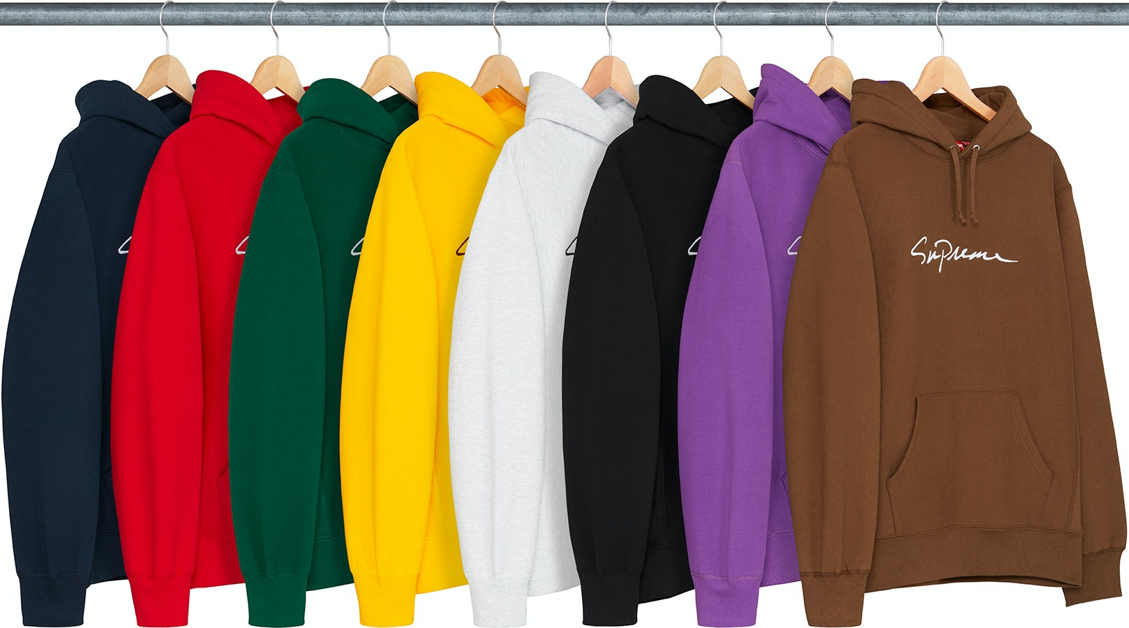 Supreme Classic Script Hooded Sweatshirt Black