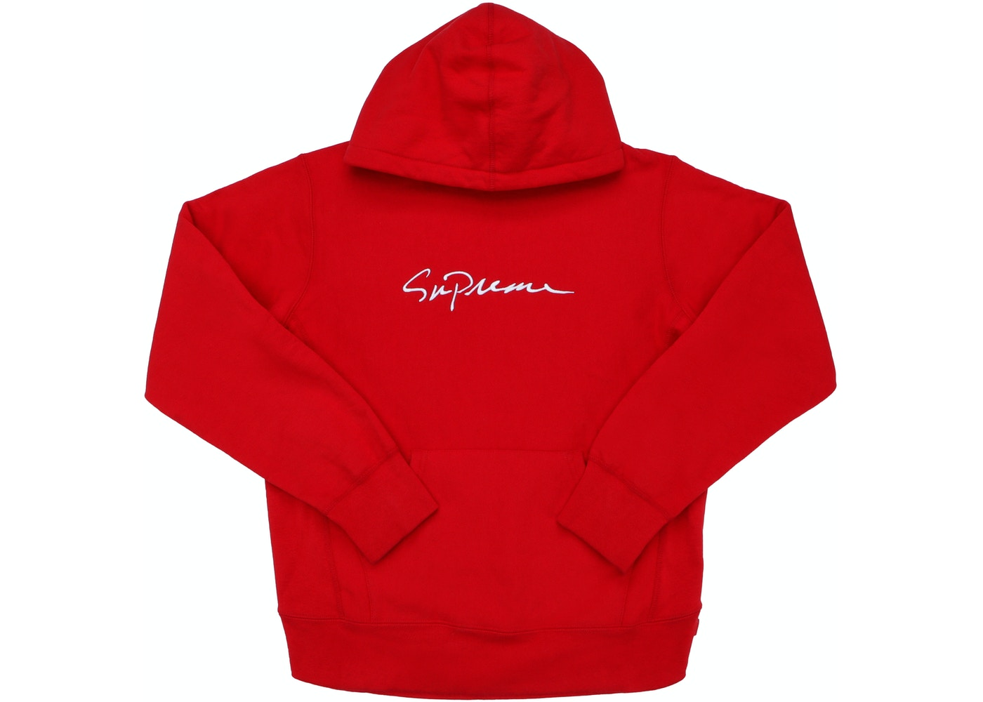 2a9704fb Sell. or Ask. Size M. View All Bids. Supreme Classic Script Hooded  Sweatshirt Red