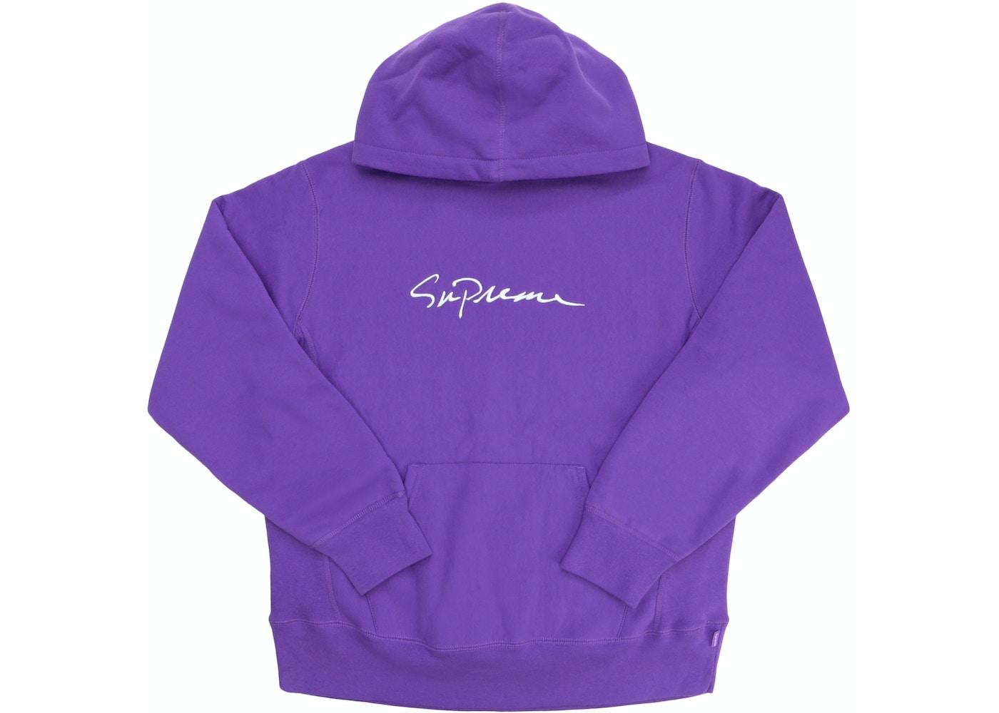 60c4e43f6003 Supreme Classic Script Hooded Sweatshirt Violet - FW18