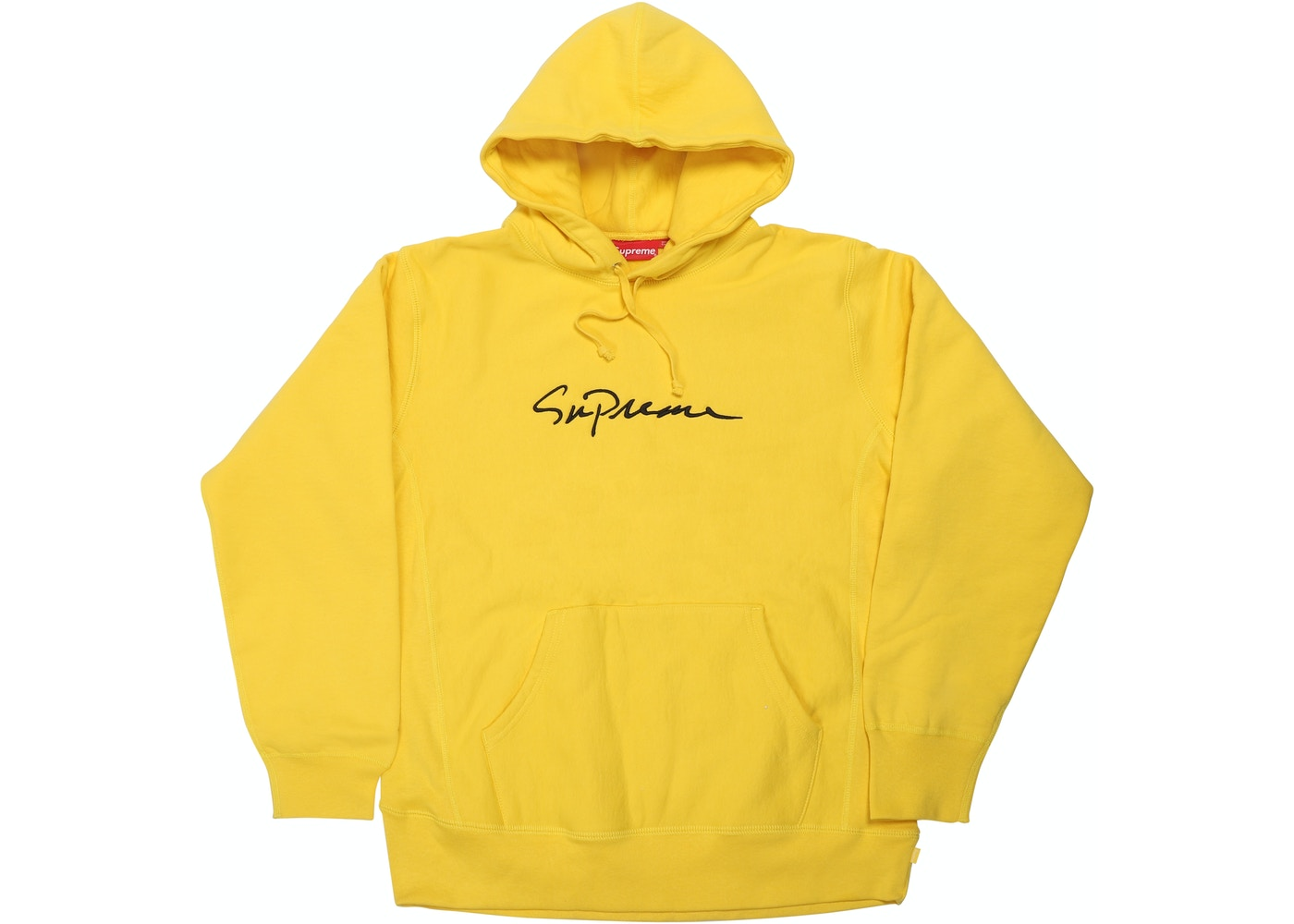 29fc68fc5 Supreme Classic Script Hooded Sweatshirt Yellow - FW18