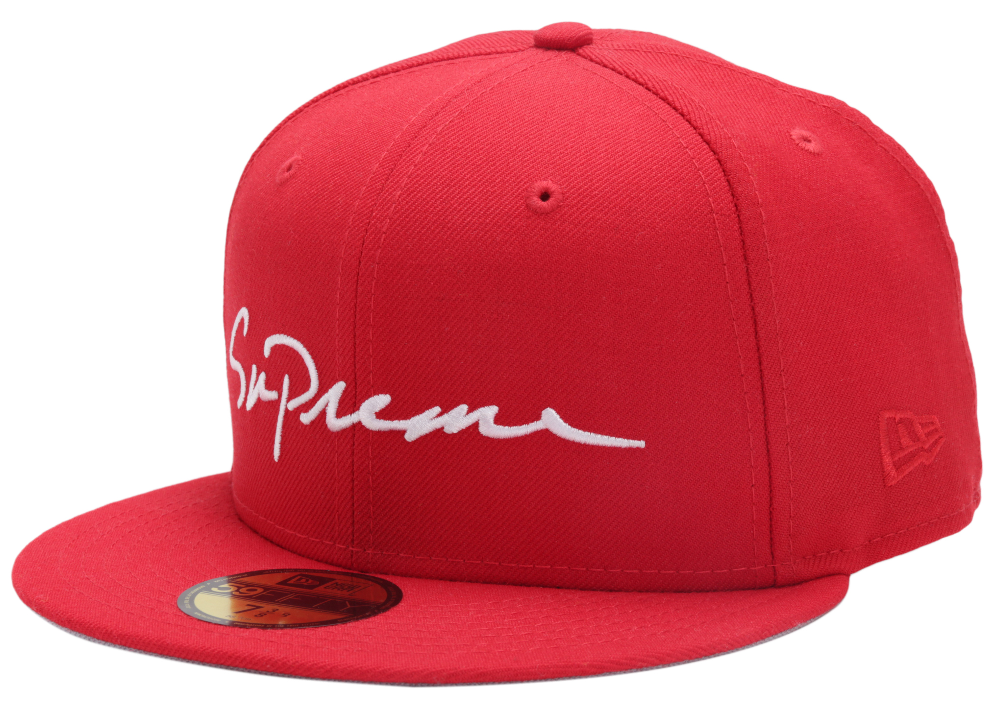 official photos 27189 4fefc ... promo code for supreme classic script new era cap red 211bf b3d4c
