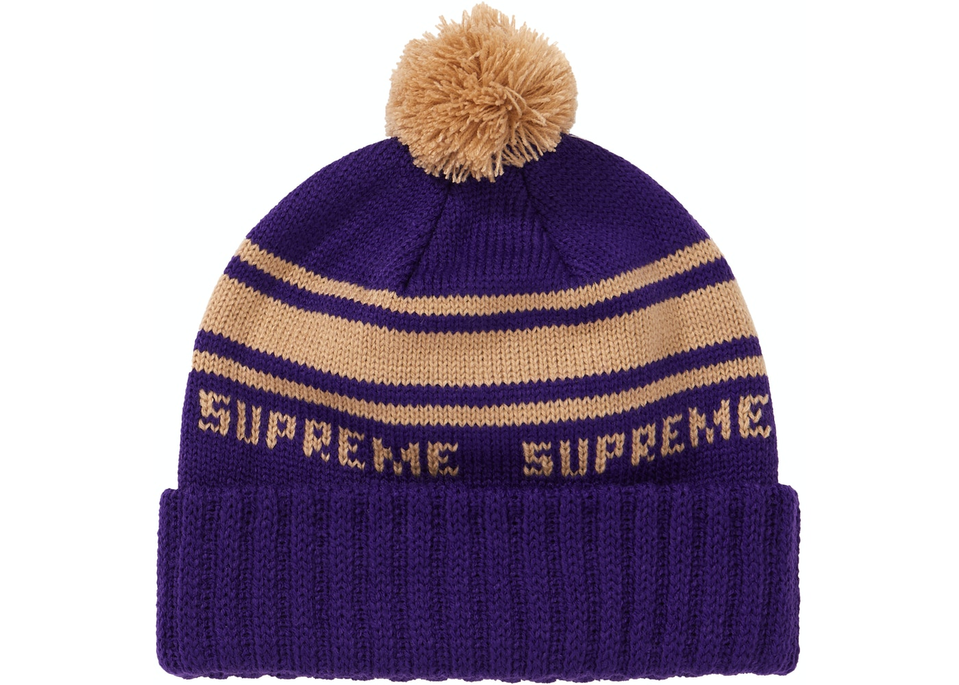 5f53bbf7471 Supreme Classic Stripe Beanie Purple - FW18