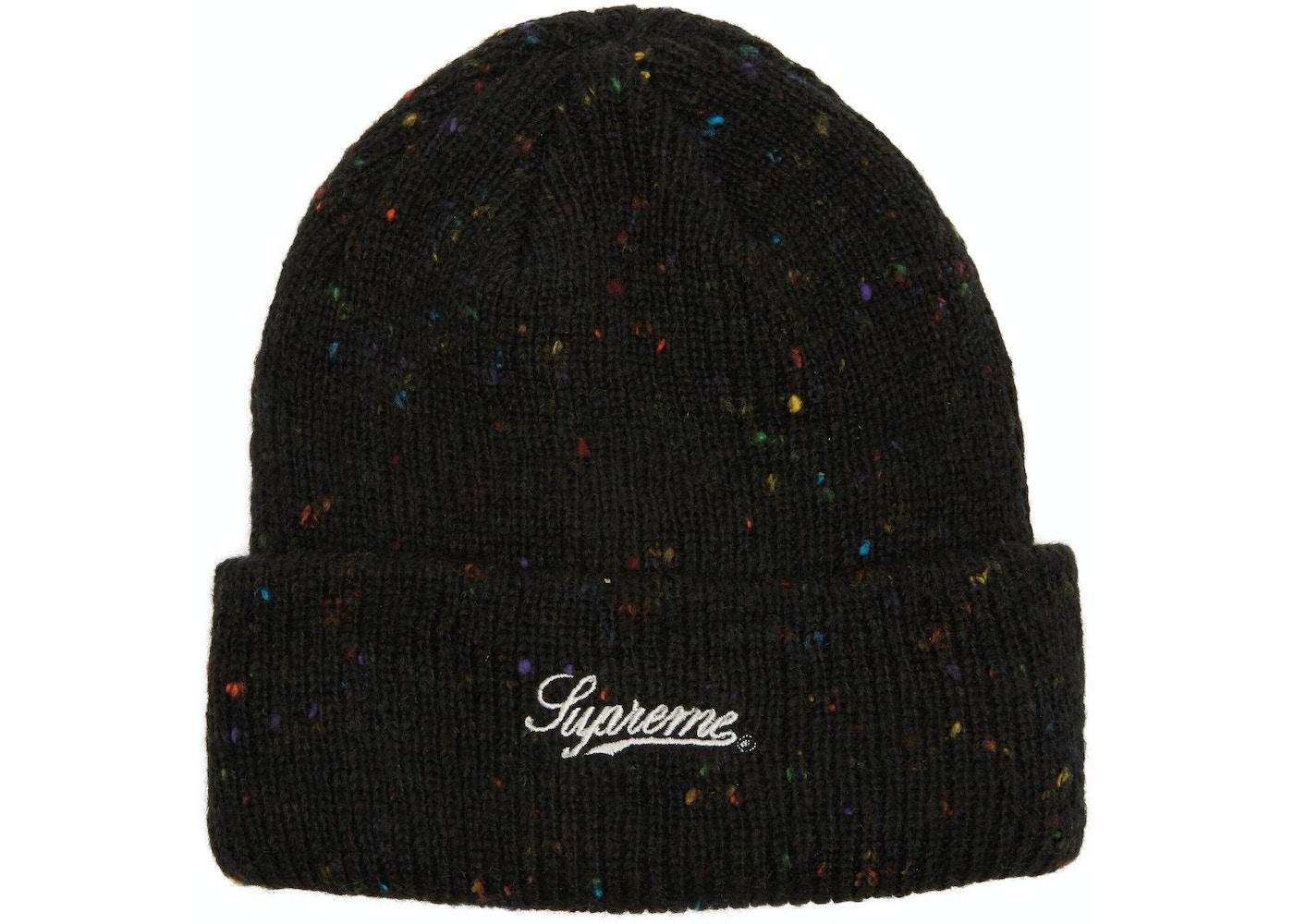 9a778051aa9e5 Supreme Colored Speckle Beanie Black - FW18