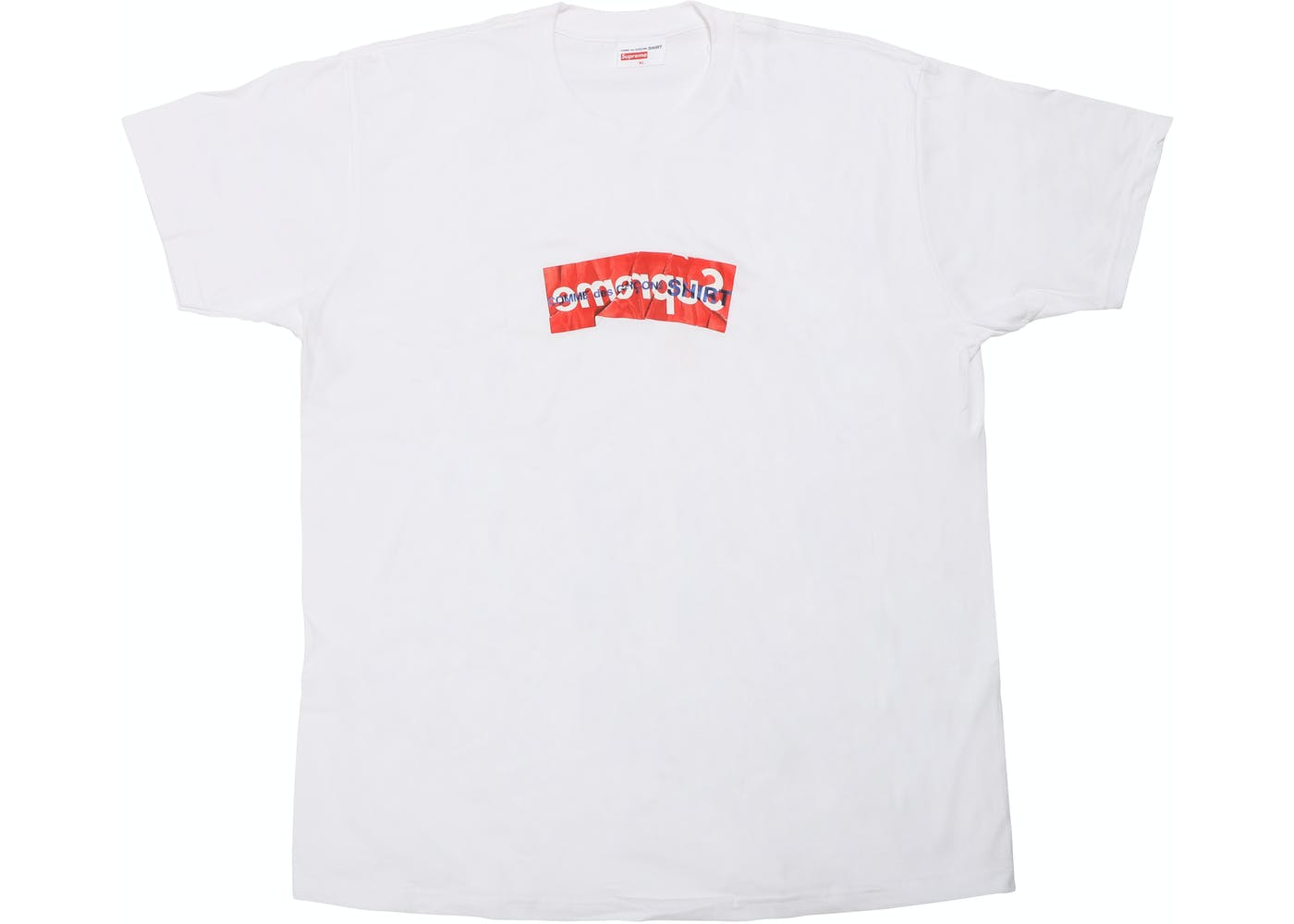 supreme comme des garcons shirt box logo tee white. Black Bedroom Furniture Sets. Home Design Ideas
