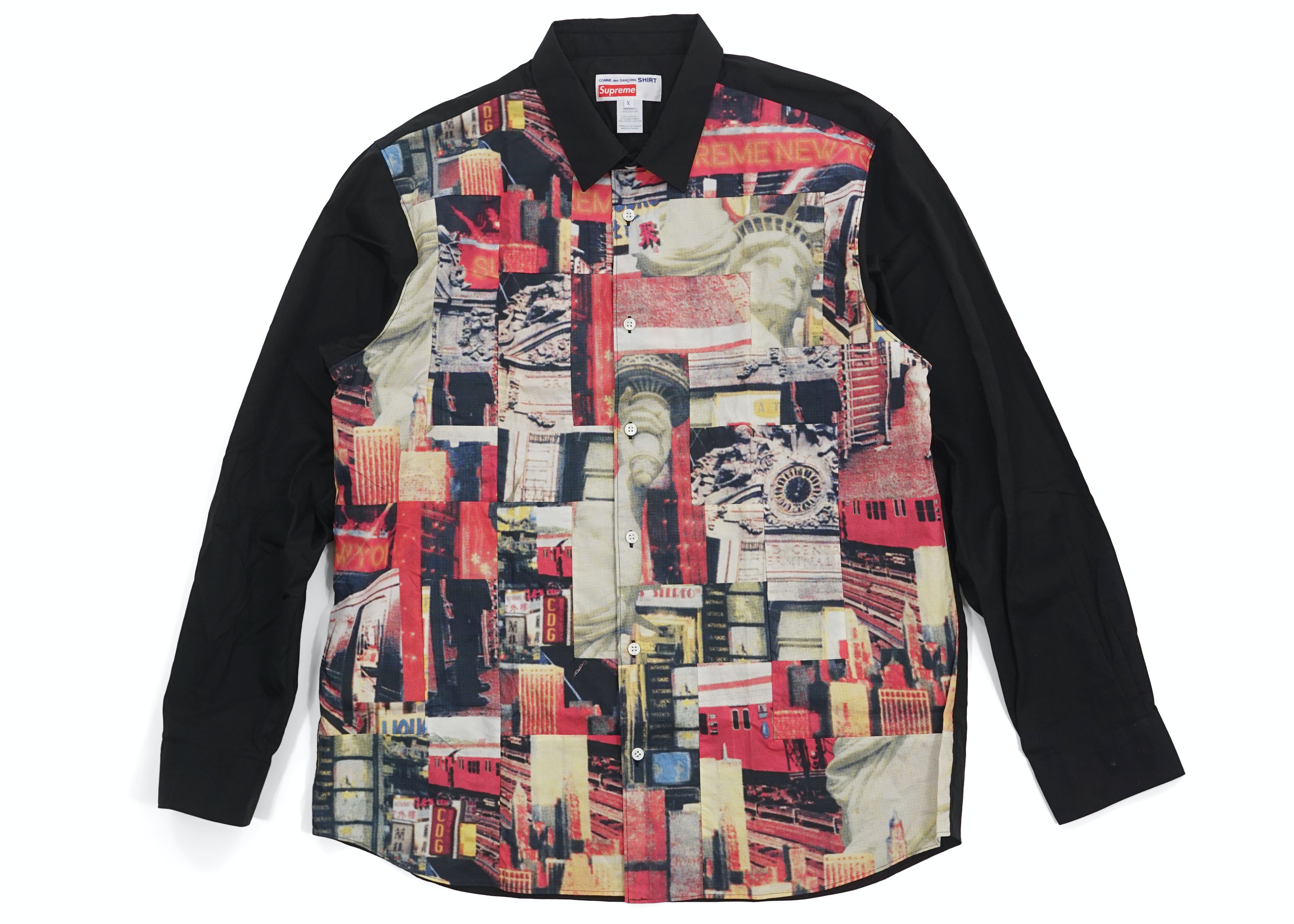 Supreme Comme des Garcons SHIRT Patchwork Button Up Shirt Multicolor