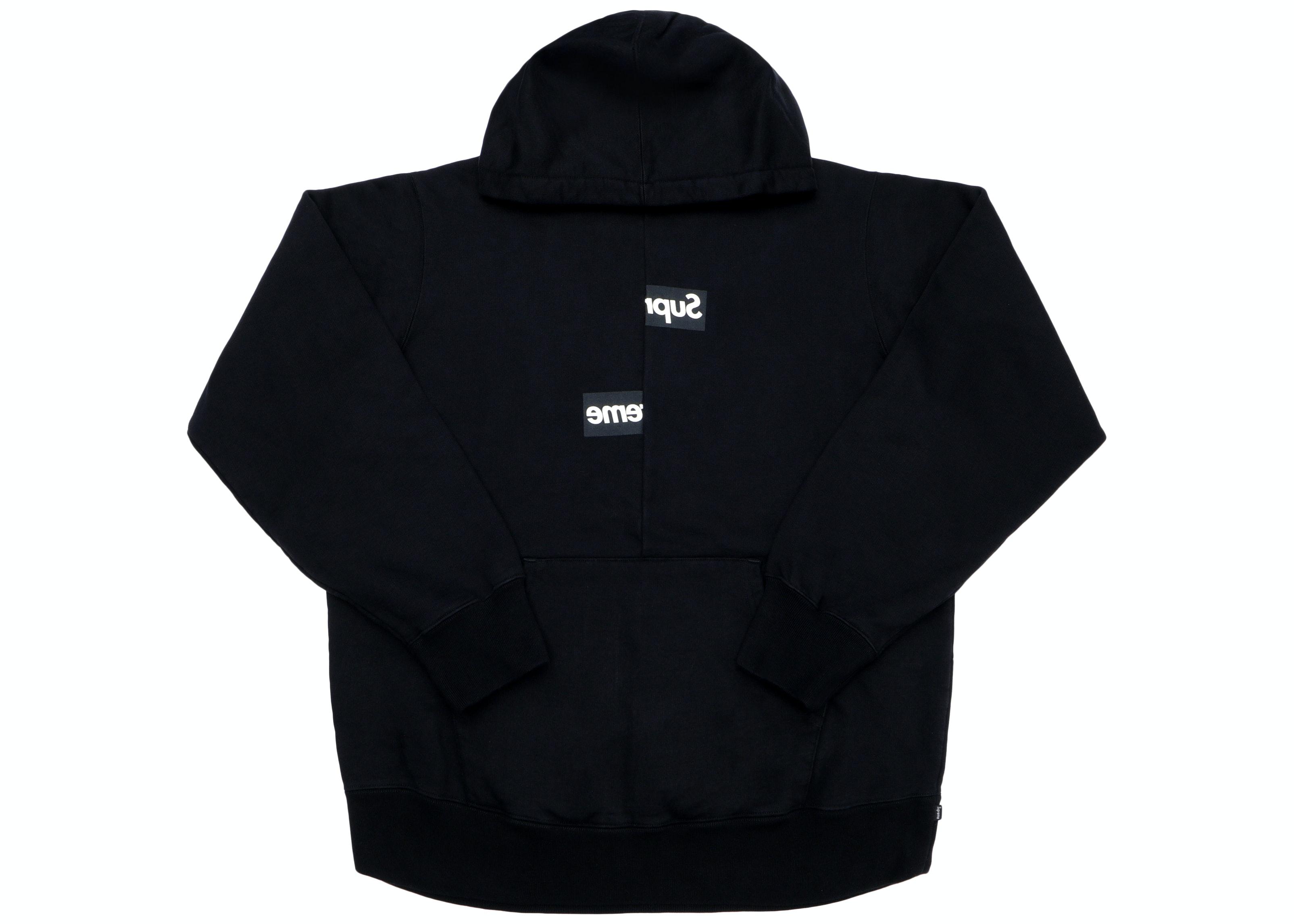 Supreme Comme des Garcons SHIRT Split Box Logo Hooded Sweatshirt Black