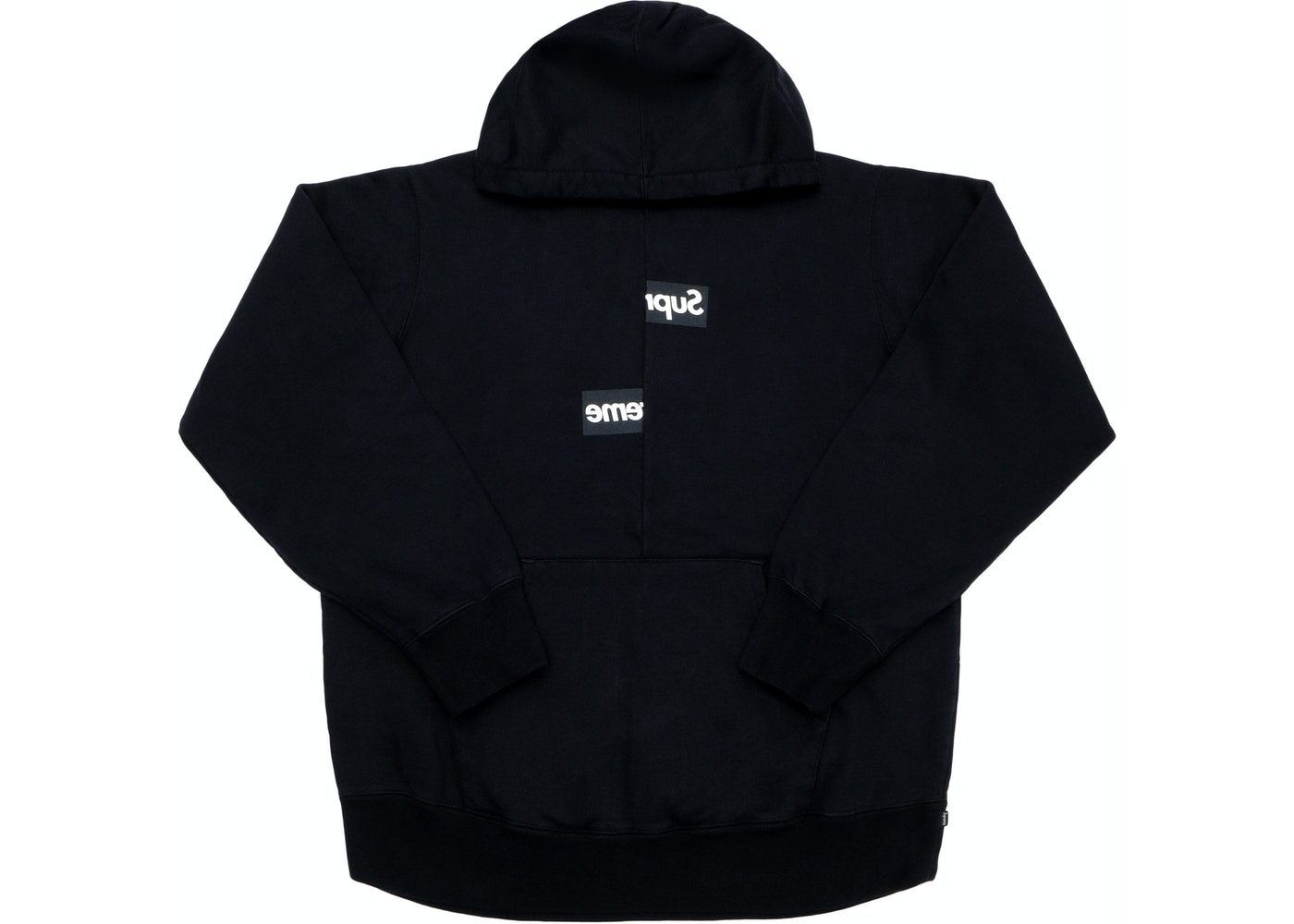 7ac9bfcfa448c4 Supreme Comme des Garcons SHIRT Split Box Logo Hooded Sweatshirt Black