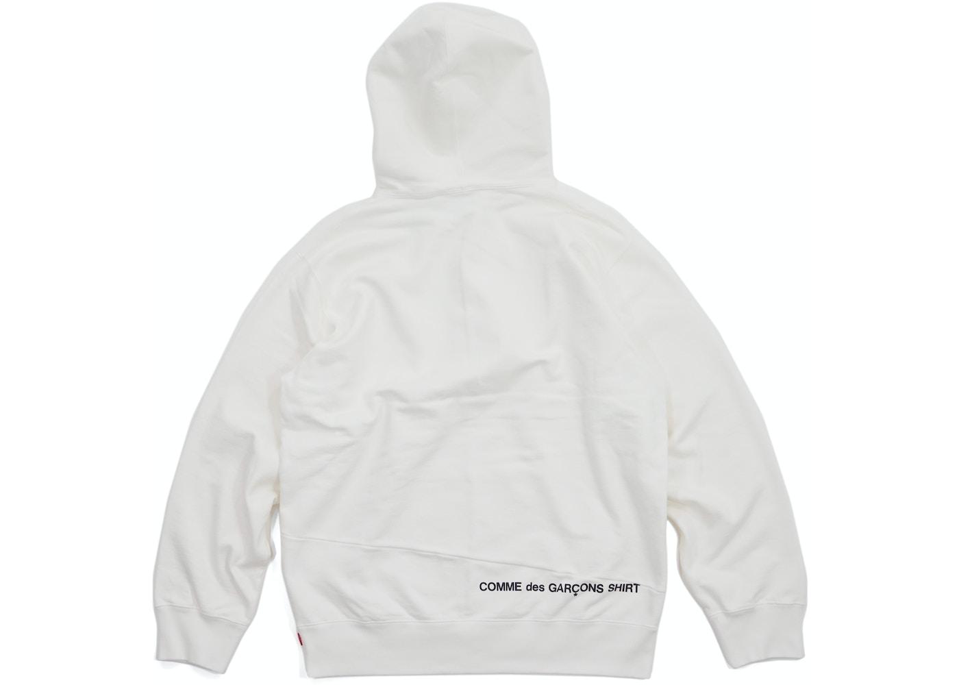 3010832d7682 Supreme Comme des Garcons SHIRT Split Box Logo Hooded Sweatshirt White