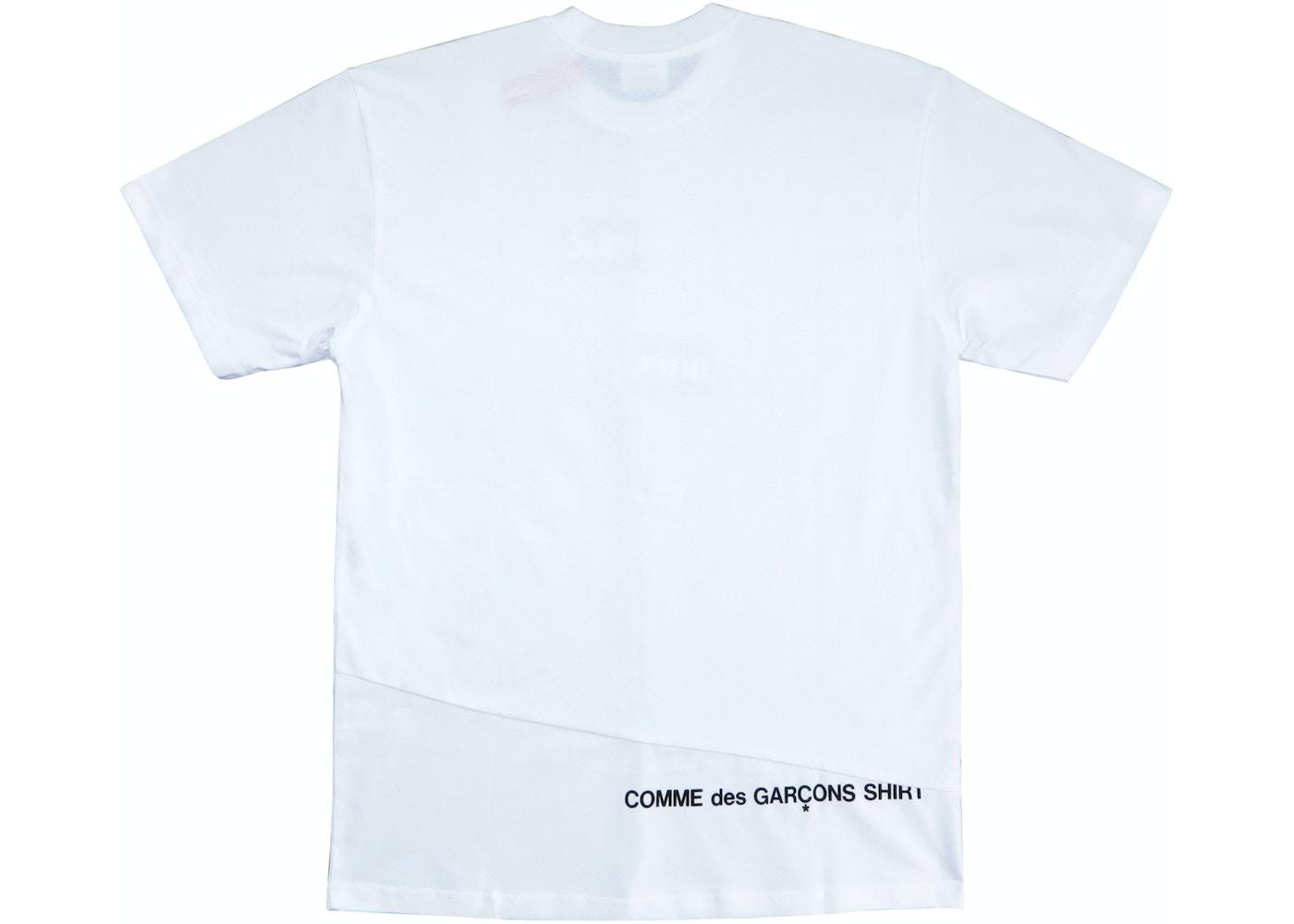 855e0be9d6c6 Supreme Comme des Garcons SHIRT Split Box Logo Tee White - FW18