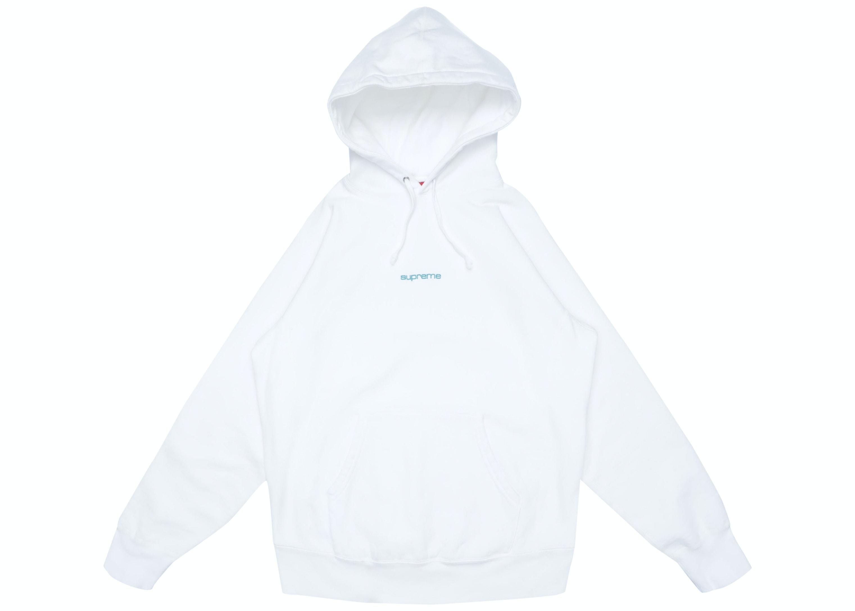 White supreme hoodie
