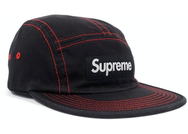 e8446a2d6d1 Supreme Contrast Stitch Camp Cap (SS18) Black - SS18