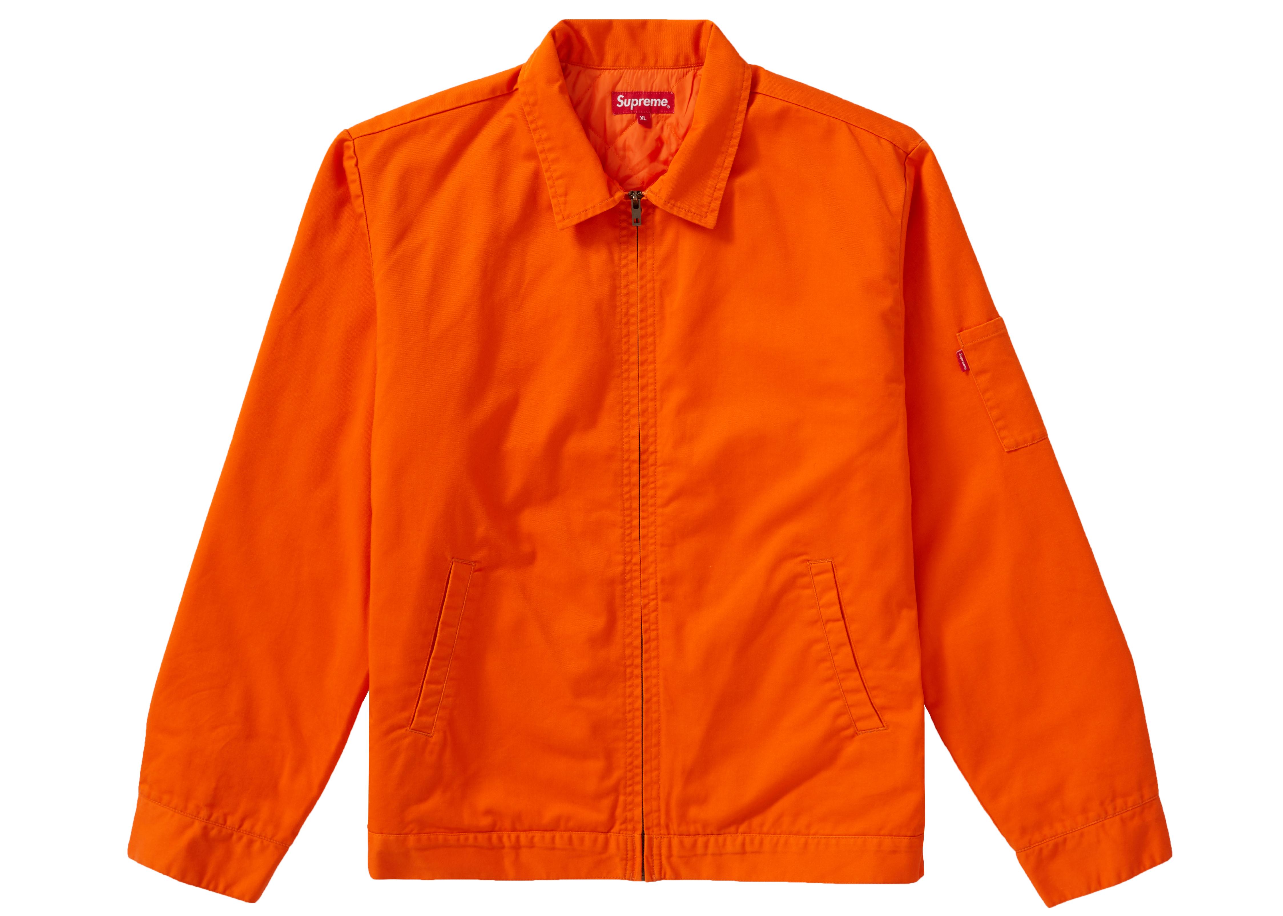 Supreme Cop Car Embroidered Jacket Orange
