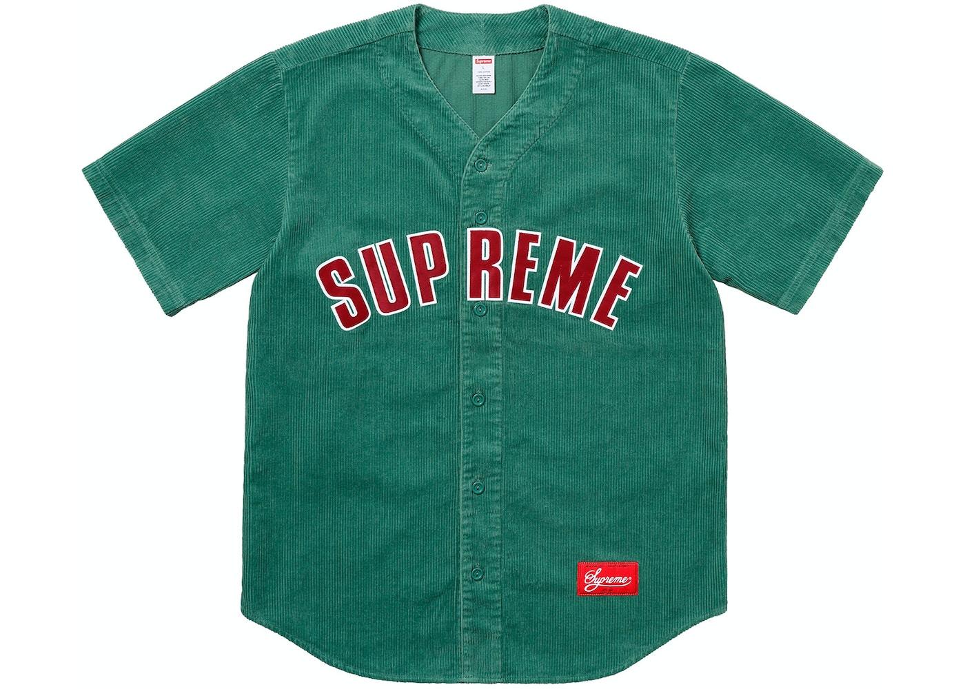 online retailer 65094 da31c Supreme Corduroy Baseball Jersey Dusty Teal - SS18