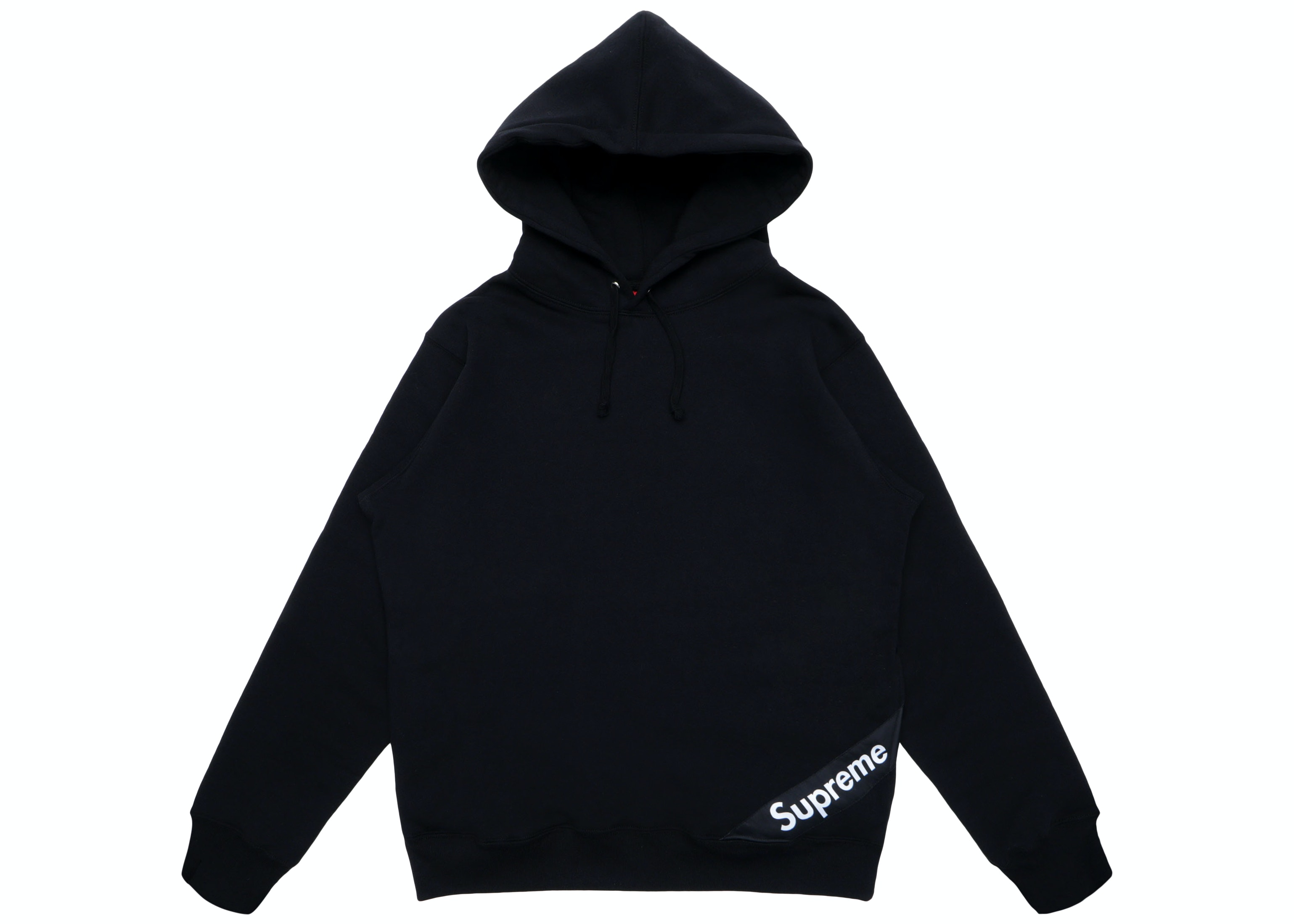 Supreme Corner Label Hooded Sweatshirt Black
