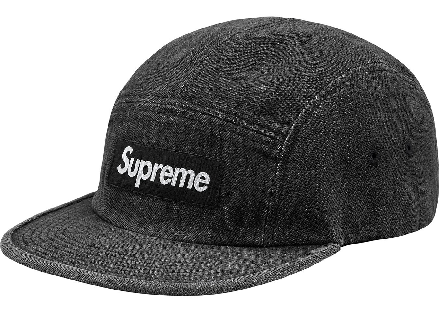Supreme Denim Camp Cap Black - SS18 a70c4a72348
