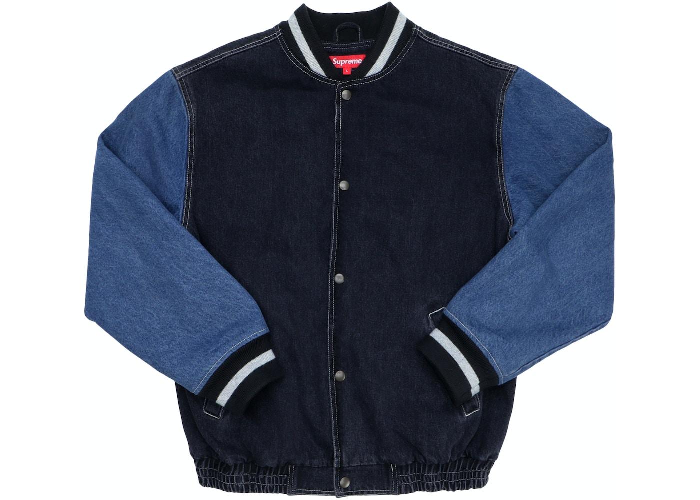 3b2cfb9da Supreme Denim Varsity Jacket Black