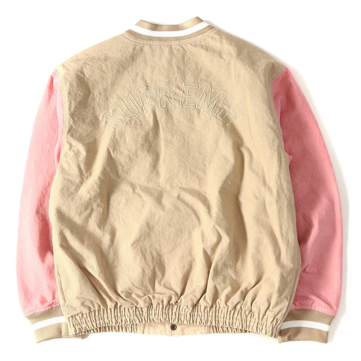 Supreme Denim Varsity Jacket Tan Ss18