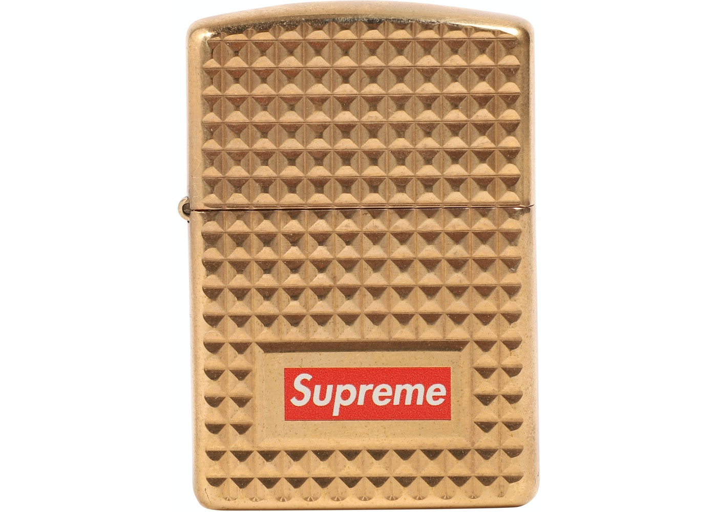 low priced a5168 d0a47 Supreme Diamond Cut Zippo Gold - FW17