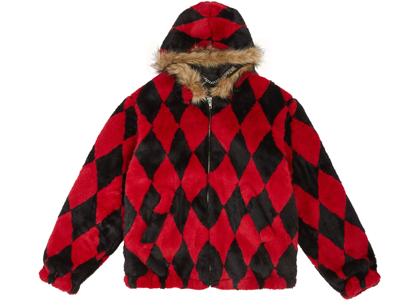 81e1da19631e Supreme Diamond Faux Fur Jacket Red - FW18