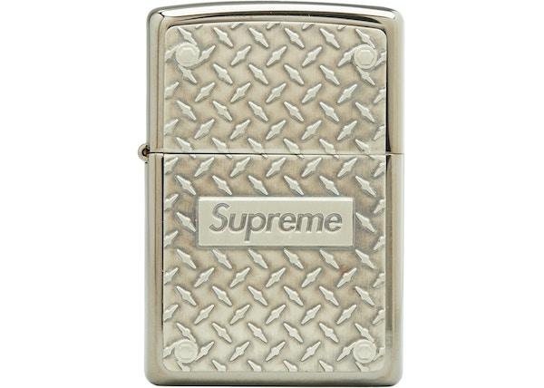 d9049d73ec8a Supreme Diamond Plate Zippo Metal