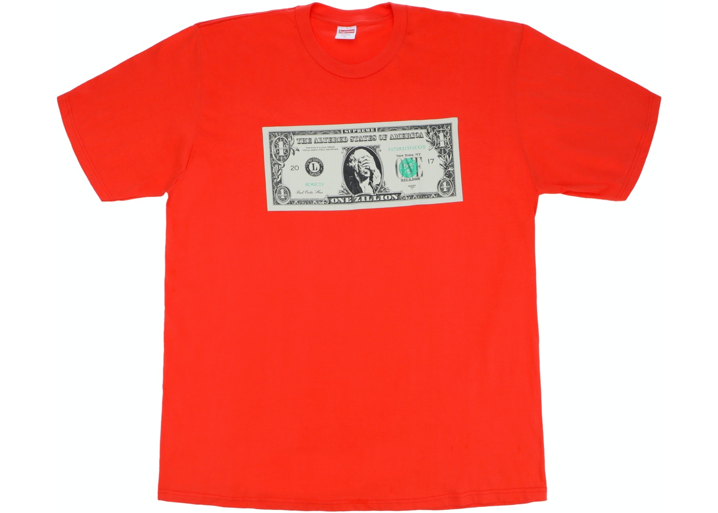 Supreme Dollar Tee Bright Orange
