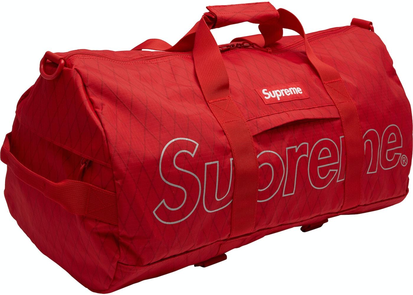 86da71ba87 Supreme Duffle Bag (FW18) Red. Duffle