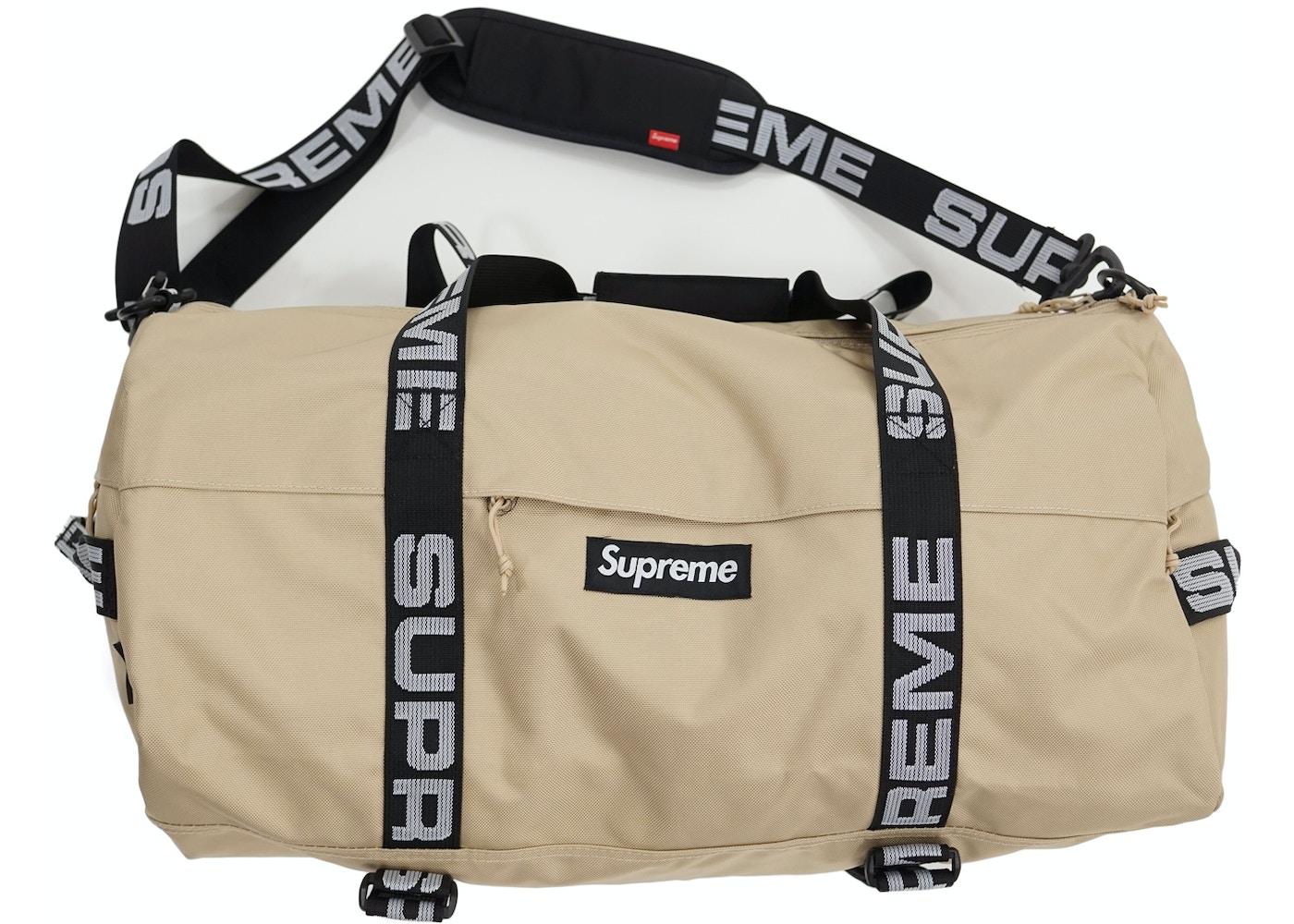 8dc6169a Supreme Duffle Bag (SS18) Tan. Duffle