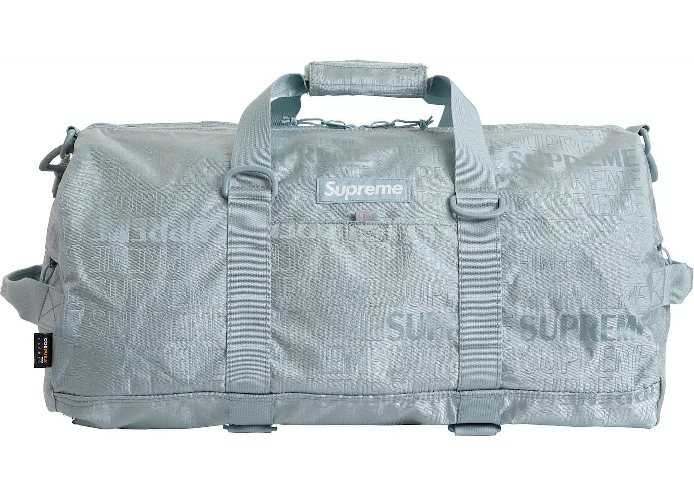 36e7c2210 Supreme Duffle Bag (SS19) Light Blue - SS19