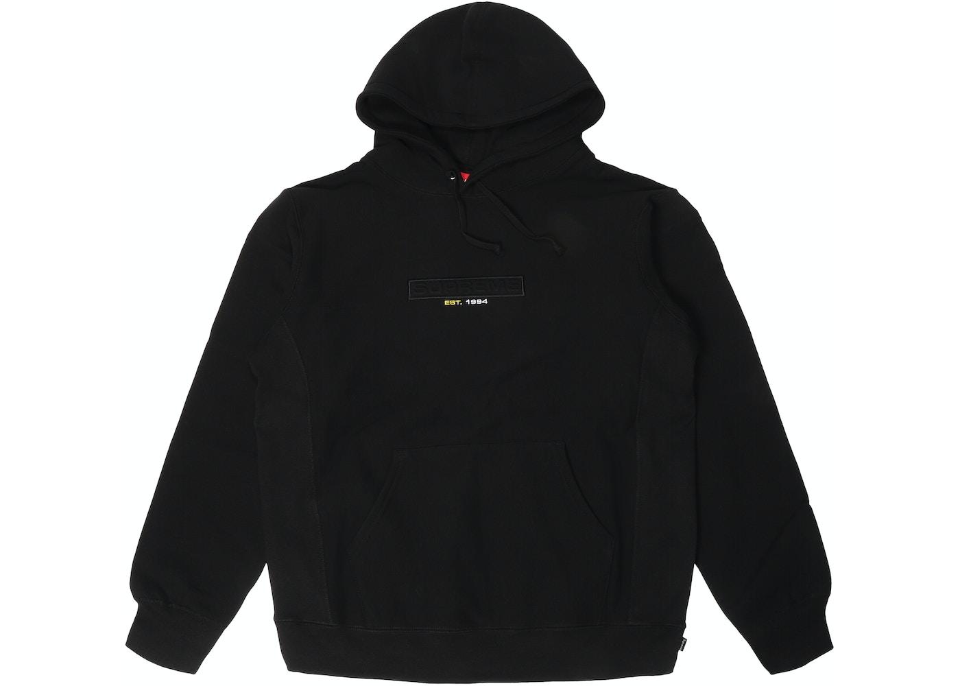 167a8b57338b Supreme Embossed Logo Hooded Sweatshirt (SS18) Black - SS18