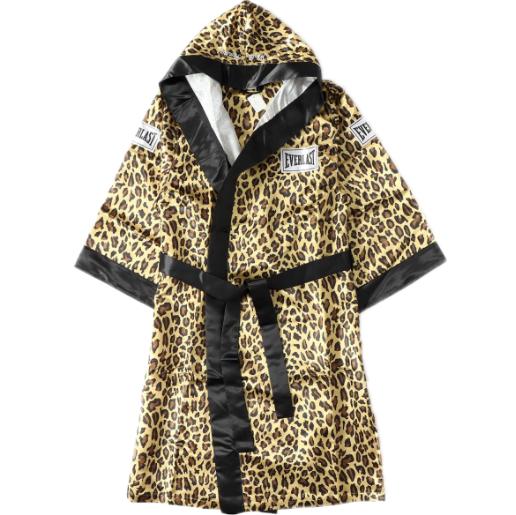 Supreme Everlast Satin Hooded Boxing Robe Leopard