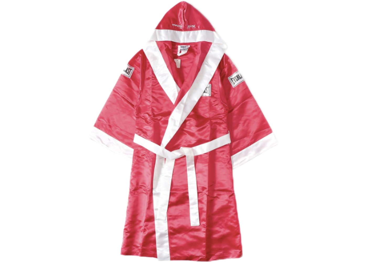 sells the best attitude no sale tax Supreme Everlast Satin Hooded Boxing Robe Red