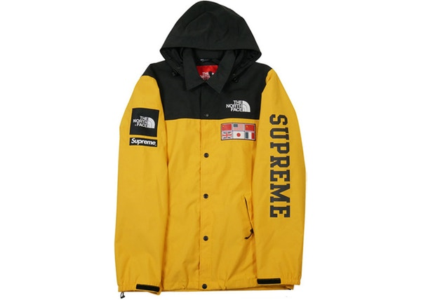 Supreme the north face expedition coaches jacket yellow ss14 gumiabroncs Gallery