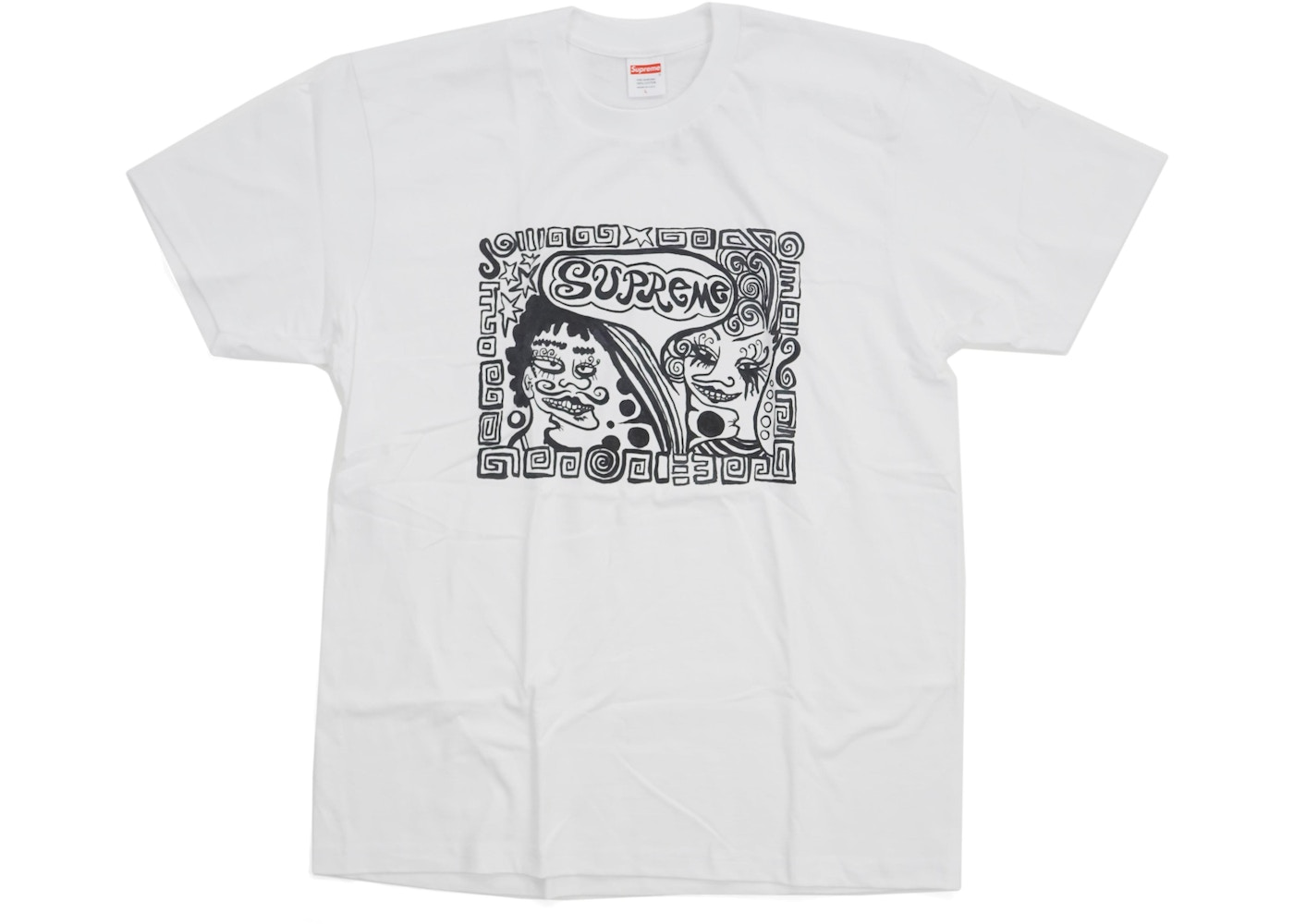 Supreme Faces Tee White - FW18 eea439882