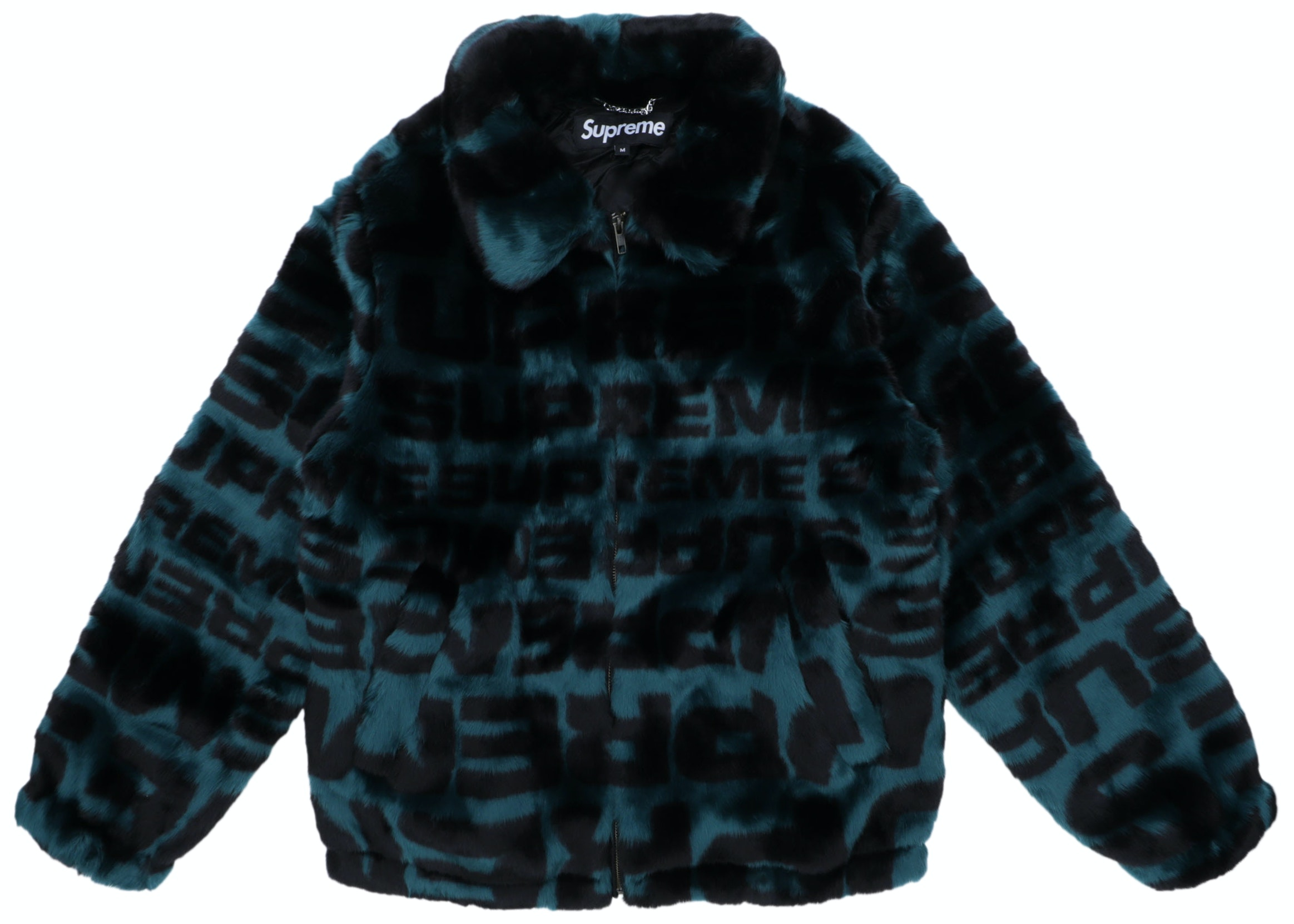 Supreme Faux Fur Repeater Bomber Dark Teal