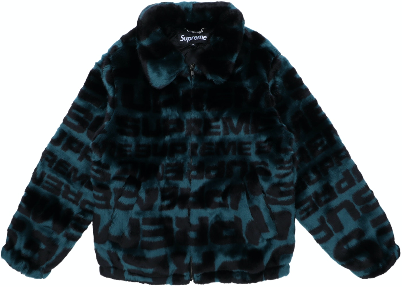online store a7d36 aa458 Supreme Faux Fur Repeater Bomber Dark Teal - SS18