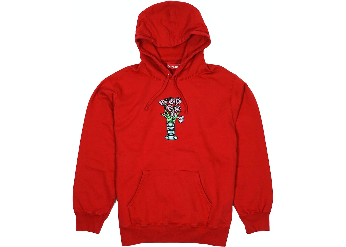 Or Ask Size L View All Bids Supreme Flowers Hooded Sweatshirt Red